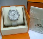 Hermes leather white