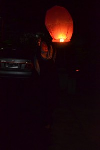 nih tak kasih foto sky lantern :D